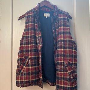 Plaid Flannel Vest